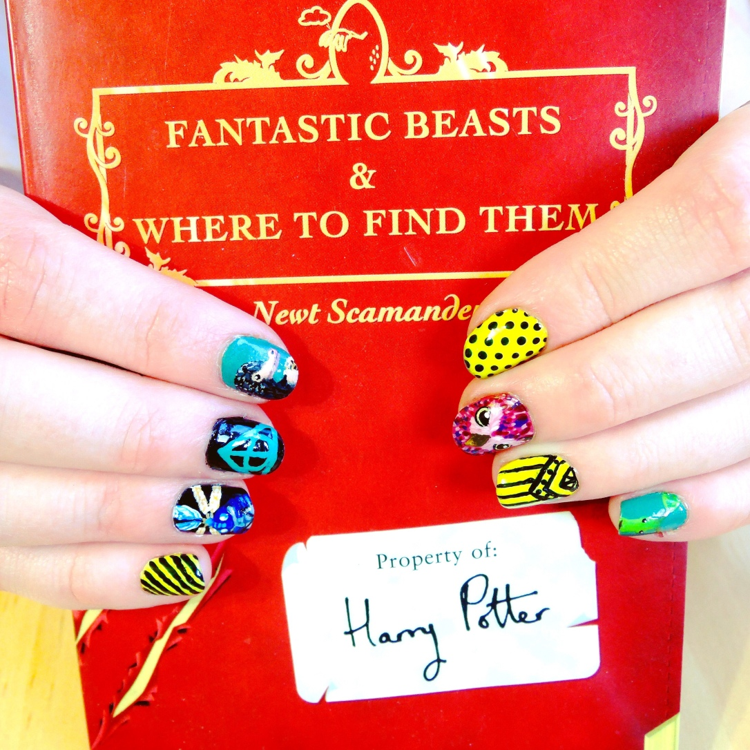 Fantastic Beasts book and nails